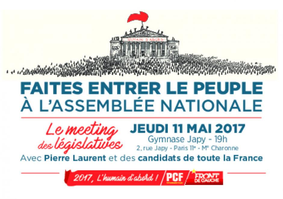 Grand meeting des législatives